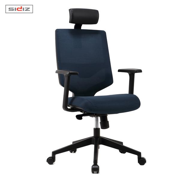 [시디즈] 스트라이프 메쉬 의자 NEW T350HFL 블랙쉘(요추지지대 포함)  (주문생산-주문후최대 D+10일 배송)